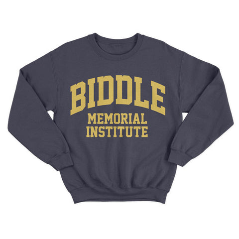 Historically Black | Biddle Memorial | Sweatshirt - Navy