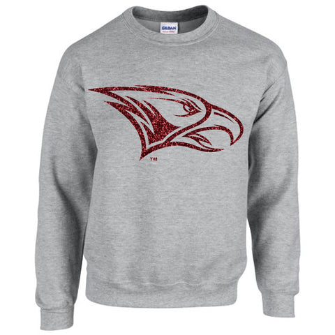 HBCU | Maroon Glitter Flake | Sweatshirt - Heather Gray