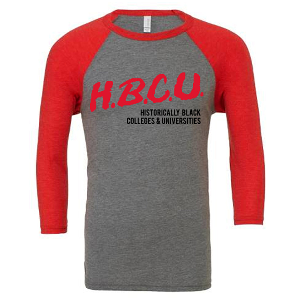 HBCU | D.A.R.E. Inspired | Baseball Tee - Red/Gray