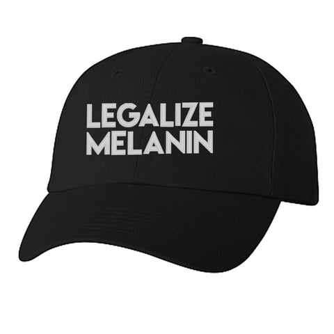 Historically Black | Legalize Melanin | Ball Cap - Black