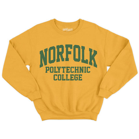 Historically Black | Norfolk Polytechnic | Sweatshirt - Gold