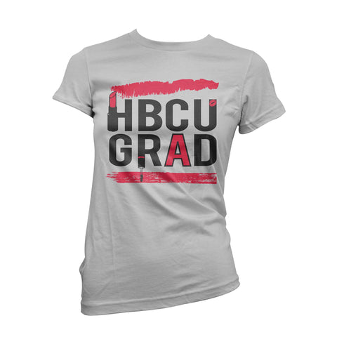 HBCU GRAD | Red Makeup | Tshirt - White
