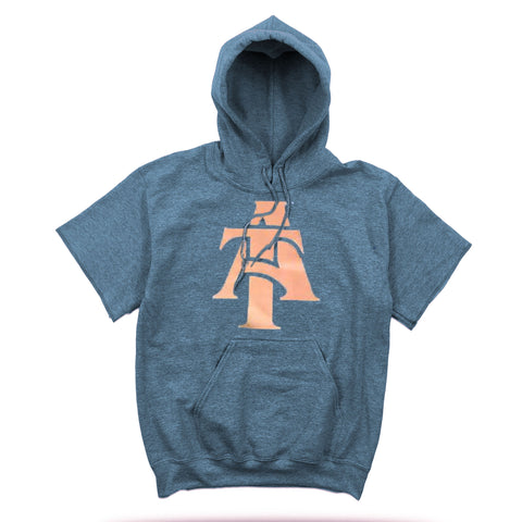 Pop Up Shop 2017 | Rose Gold | Short Sleeved Hoodie - Indigo Blue