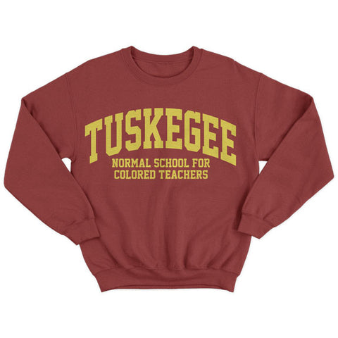 Historically Black | Tuskegee Normal | Sweatshirt - Crimson