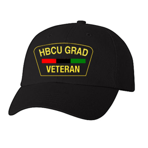 HBCU Grad | Veteran Edition | Low Profile Cap - Black