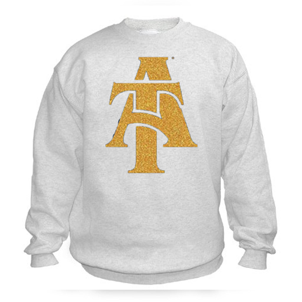 HBCU | Gold Glitter Flake | Sweatshirt - White