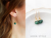 Gemstone Dangle Earrings (Hook)