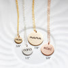 "3/8"" Engraved Disc Necklace"