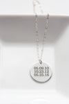 "7/8"" Engraved Disc Necklace"