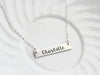 Engraved Bar Necklace | Thick Bar