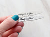 Handwriting Collar Stays