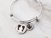Actual Paw Print Expandable Bangle