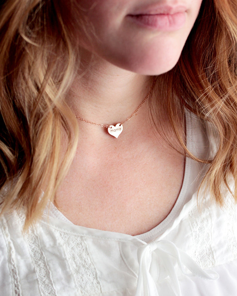 Engraved Heart Choker Necklace