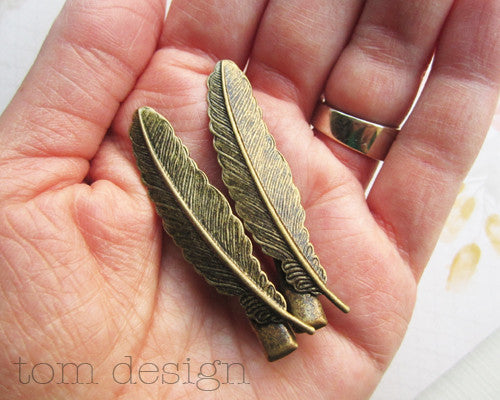 Feather Hair Clips