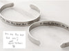 Men's Handwriting Cuff Bracelet