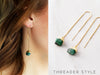 Gemstone Threader Earrings