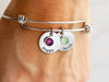 Stacked Birthstone Bangle