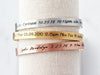 Birth Stat Cuff Bracelet
