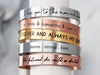 Medium Engraved Bracelet | 3/8