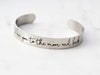 "Medium Engraved Bracelet | 3/8"" Cuff"