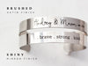 "Thin Handwriting Bracelet | 1/4"" Cuff"