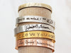 "Medium Handwriting Bracelet | 3/8"" Cuff"