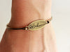 Handwriting Bracelet | Oval Bangle