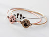 Actual Prints Bracelet | Disc Bangle