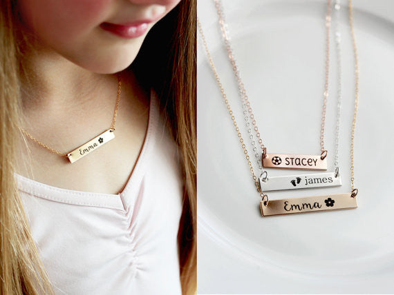 Children's Nameplate Necklace