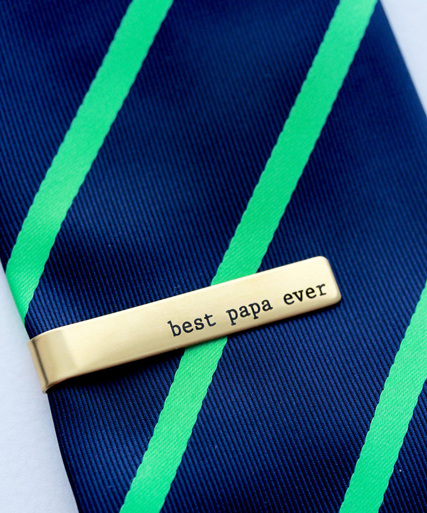 Groom Gift Engraved Tie Clip
