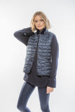 Quilted Puffer With Fur Trim Collar Vest for women