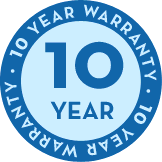 10 year non-prorated warranty