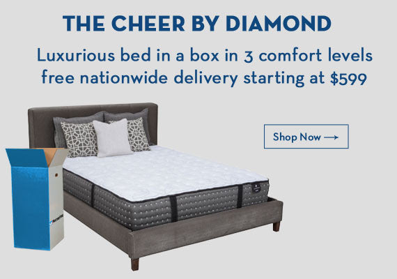 The cheer luxuious bed in a box in 3 comfort levels free nationwide delivery starting at $599