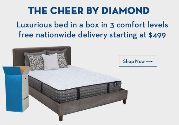 The cheer luxuious bed in a box in 3 comfort levels free nationwide delivery starting at $499