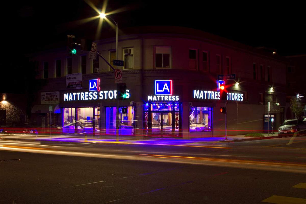 Los Angeles Mattress Stores Koreatown at Night