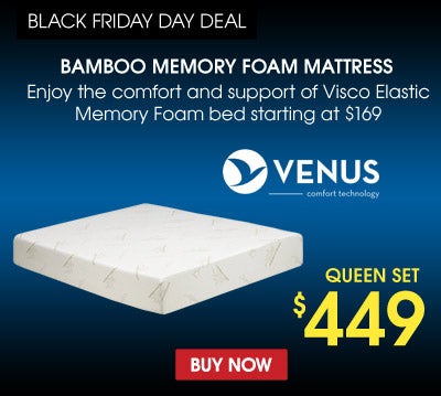 enjoy the comfort of bamboo visco elastic memory foam bed starting at 169