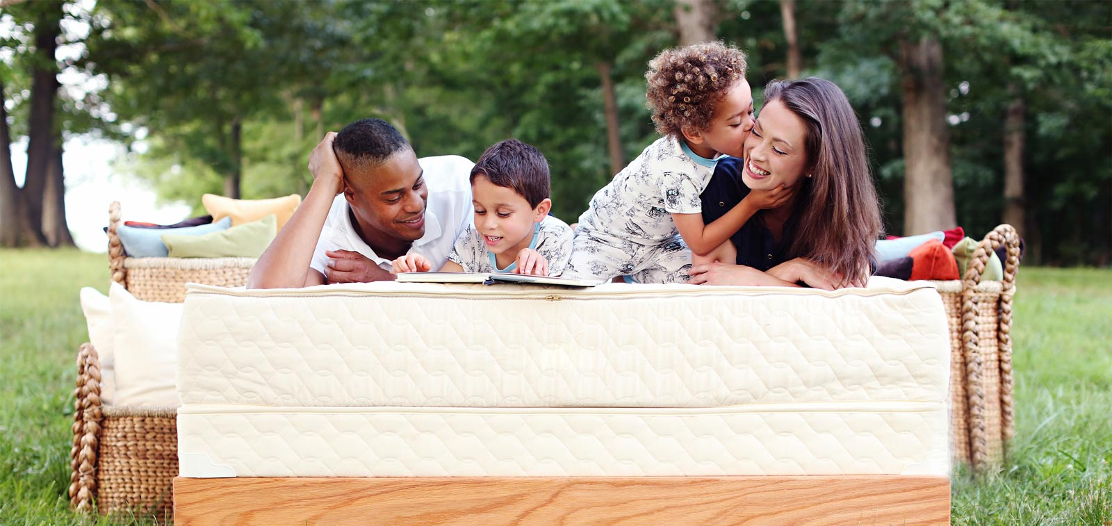 organic natural latex mattress and happy family