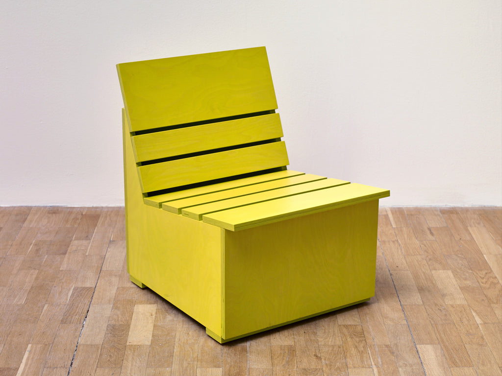 Mary Heilmann | Sunny Chair for Whitechapel (2016) (Chartreuse)