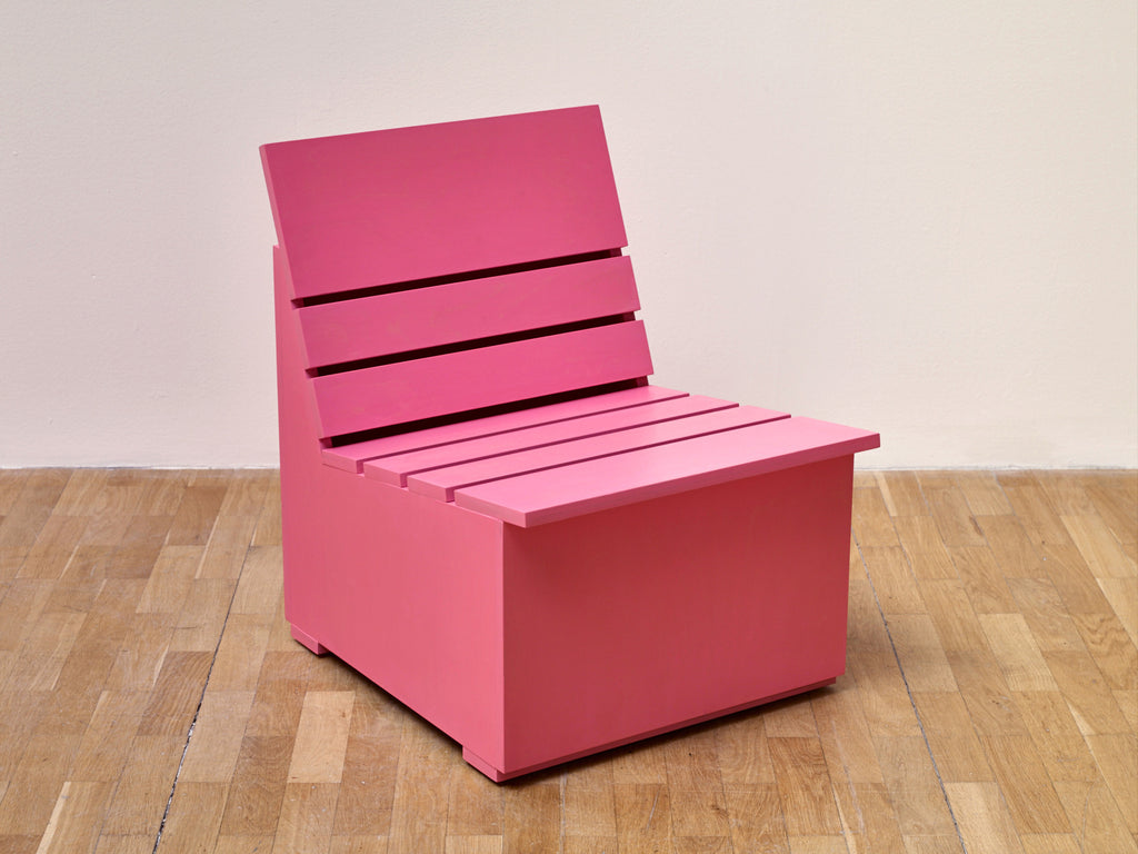 Mary Heilmann | Sunny Chair for Whitechapel (2016) (Pink)