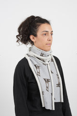 Simon Fujiwara | Jersey Sweat Relax-Revolution Scarf with Shred Detail (2019)