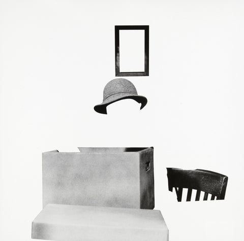 John Baldessari | Box, Hat, Frame and Chair (2011)
