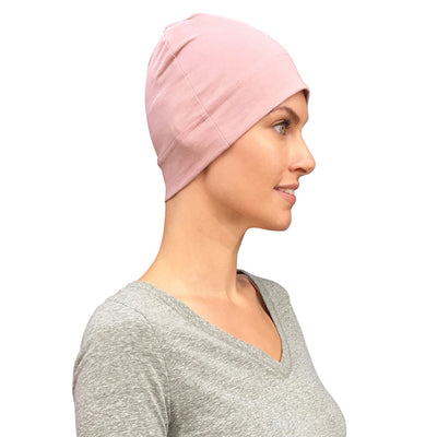 Cate and Levi Comfort and Courage Premium Pink Headwear | Chemo Caps | Hats for Cancer Patients