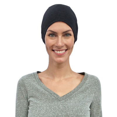 Cate and Levi Comfort and Courage Premium Black Headwear | Chemo Caps | Hats for Cancer Patients - Cate and Levi