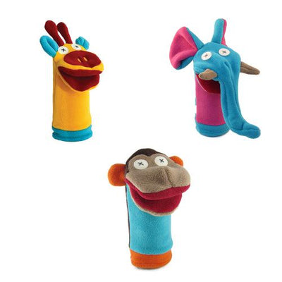 Zoo Friends Hand Puppets - Set of 3