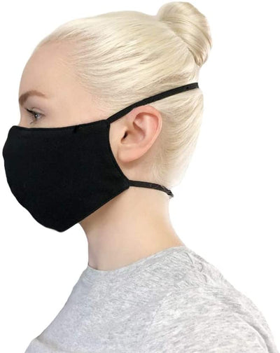 100% Organic Cotton Black Face Mask