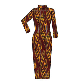 African Print D'IYANU Fall Collection Preview Dess Dress