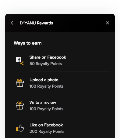 D'IAYNU Royalty Rewards Program