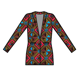 D'IYANU African Print Nibua Blazer Fall Collection Preview