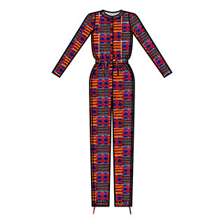 African Print D'IYANU Fall Collection Preview Eniola Jumpsuit