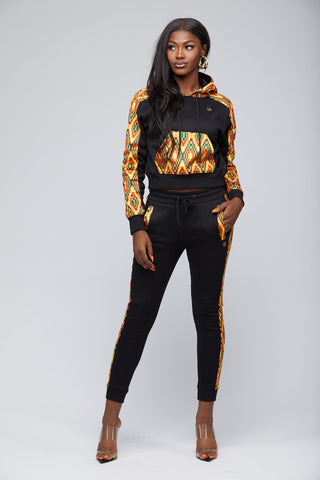 Mbali African Print Jogger